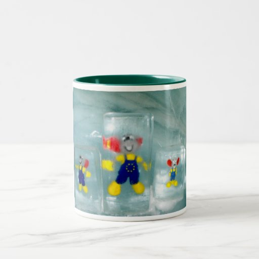 Toys in ice mugs
