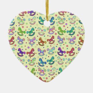 Toys pattern ceramic heart decoration