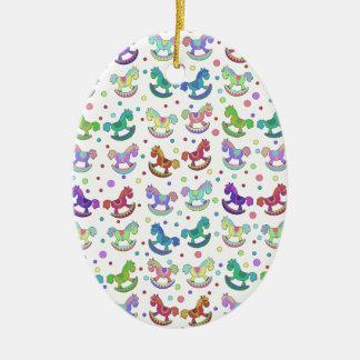 Toys pattern ceramic oval decoration