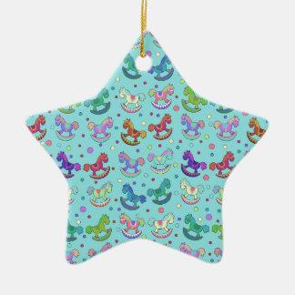 Toys pattern ceramic star decoration