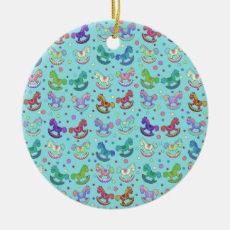Toys pattern round ceramic decoration