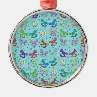 Toys pattern Silver-Colored round decoration