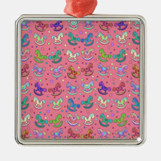 Toys pattern Silver-Colored square decoration