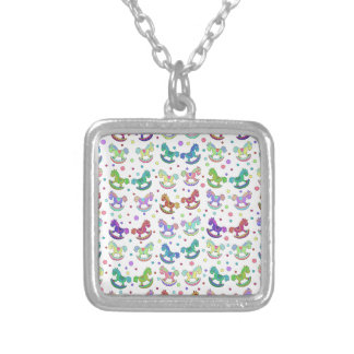Toys pattern silver plated necklace