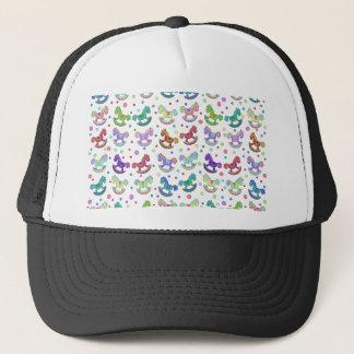 Toys pattern trucker hat