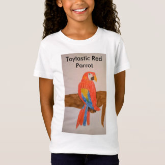 Toytastic Red Parrot Girls' T-Shirt