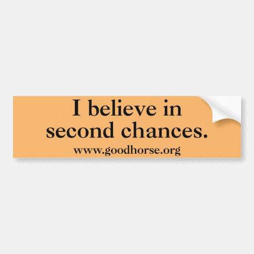 TPR - I believe in second chances. Bumper Stickers