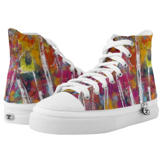 "Tquinn original art ""Aspen Dreams"" High Tops"