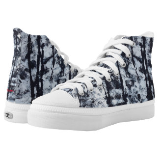 "Tquinn original art ""Black and White""high tops High Tops"