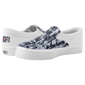 """Tquinn original art """"Black and White"""" slipons Slip On Shoes"""