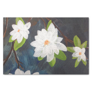 TQuinn original art flowers of spring Tissue Paper