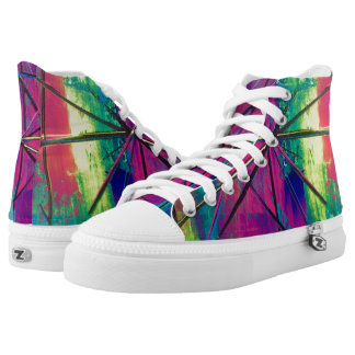 Tquinn original art on kicks high tops