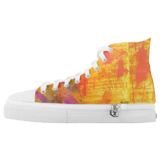 Tquinn original art sun flare high tops