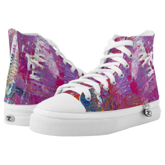 "Tquinn original art ""Venice at Night"" High Tops"