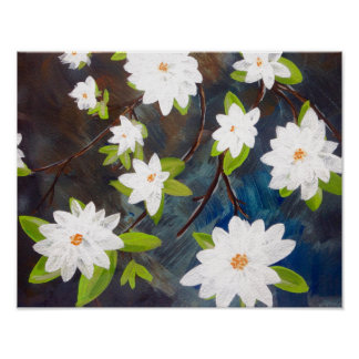 Tquinn original hand painted art spring flowers poster