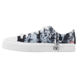 "Tquinn original wearable art ""Black and White"" Low Tops"