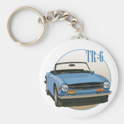 TR6 BASIC ROUND BUTTON KEY RING