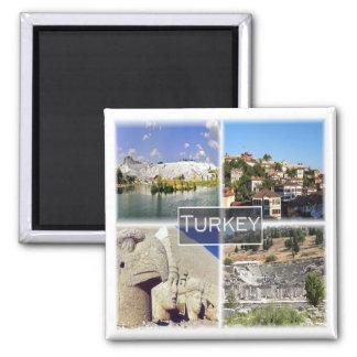TR * Turkey - Unesco Nemrut Dag & Pamukkale Square Magnet