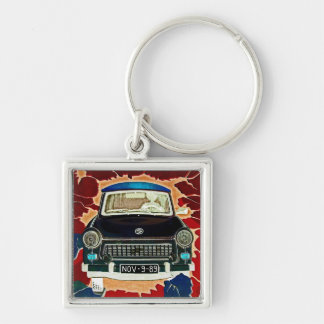 Trabant Car , Browns and Reds, Berlin Wall Key Ring