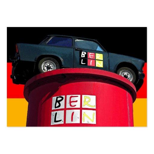 Trabant Car , German Flag, Berlin Logo Business Cards