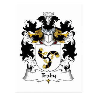 Traby Family Crest Postcard