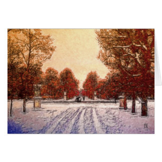 Traces in the Snow Card