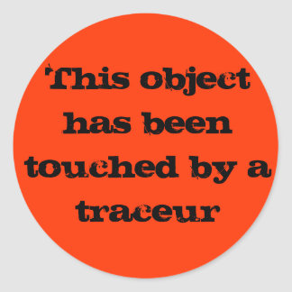 Traceur touch classic round sticker