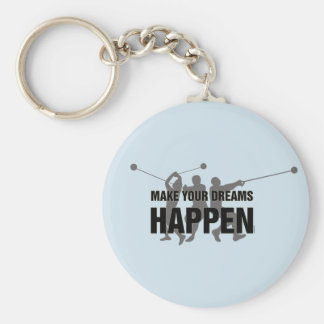 Track and Field Hammer Throw Keychain Gift