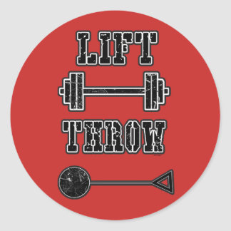 Track and Field Hammer Throw Stickers Gift