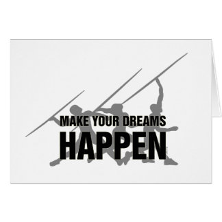 Track and Field Javelin Good Luck Card