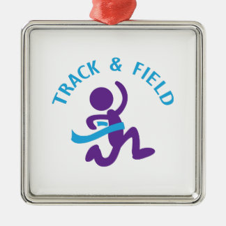 TRACK AND FIELD METAL ORNAMENT