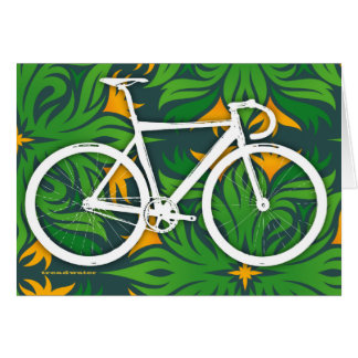 Track Bicycle - Fiery Green Pattern Card