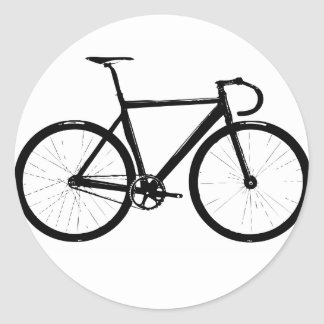 Track Bicycle Round Sticker