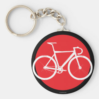 Track Bike - Red Dot Key Ring