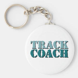 Track Coach teal Key Ring
