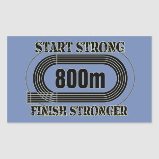 Track Field 800 Meter Middle Distance Runner Gift Rectangular Sticker