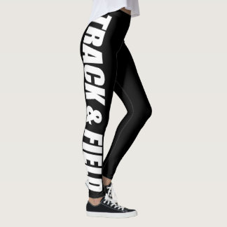 Track & Field Typographic Leggings for Runners