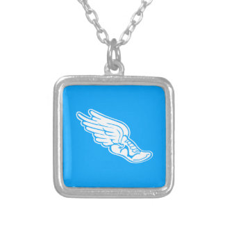Track Logo Necklace Blue