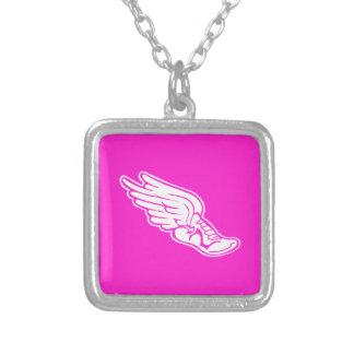 Track Logo Necklace Pink