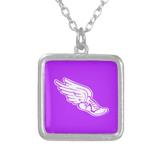 Track Logo Necklace Purple