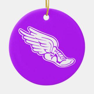 Track Logo Ornament Purple