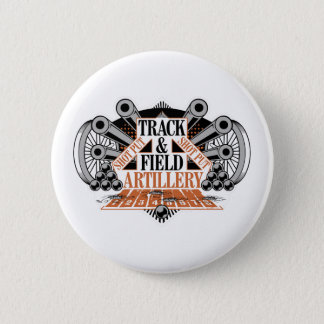 track n field artillery 6 cm round badge