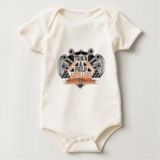 track n field artillery baby bodysuit