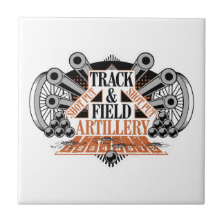track n field artillery ceramic tile