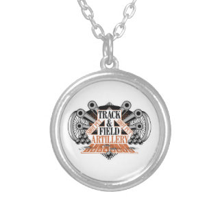 track n field artillery silver plated necklace