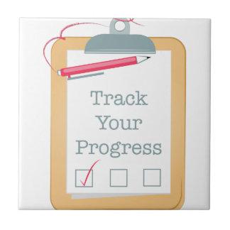 Track Progress Ceramic Tile