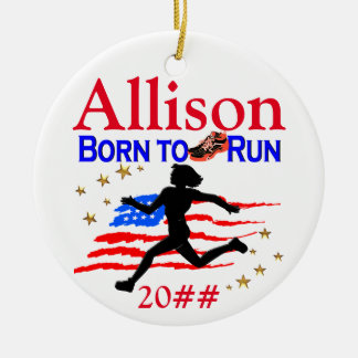 TRACK STAR PERSONALIZED CHRISTMAS ORNAMENT