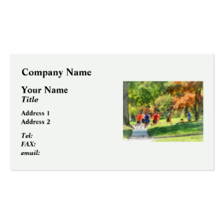 Track Team Business Card Templates