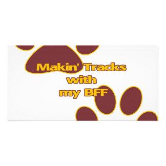 Trackin BFF Photo Greeting Card
