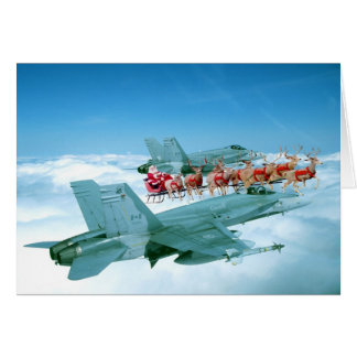 Tracking Santa Claus by the Air Force Card